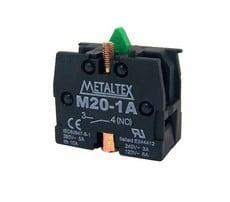 Ela Eletro Araguari BLOC CONT.M20-1A 1NA P/BOTAO M20/P20 >1F CONTATO METALTEX
